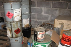 Abandoned Chemical Products Stored In Lieu Of Disposal