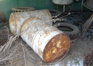 Bulging Chemical Drums Abandoned On Property Identified During Phase 1 Environmental