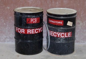 PCB Capacitor Storage Drums Examined During RCRA Compliance Audit