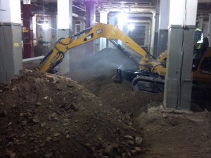 This photo shows an example Soil Remediation Project In Basement of Historic Minneapolis Factory