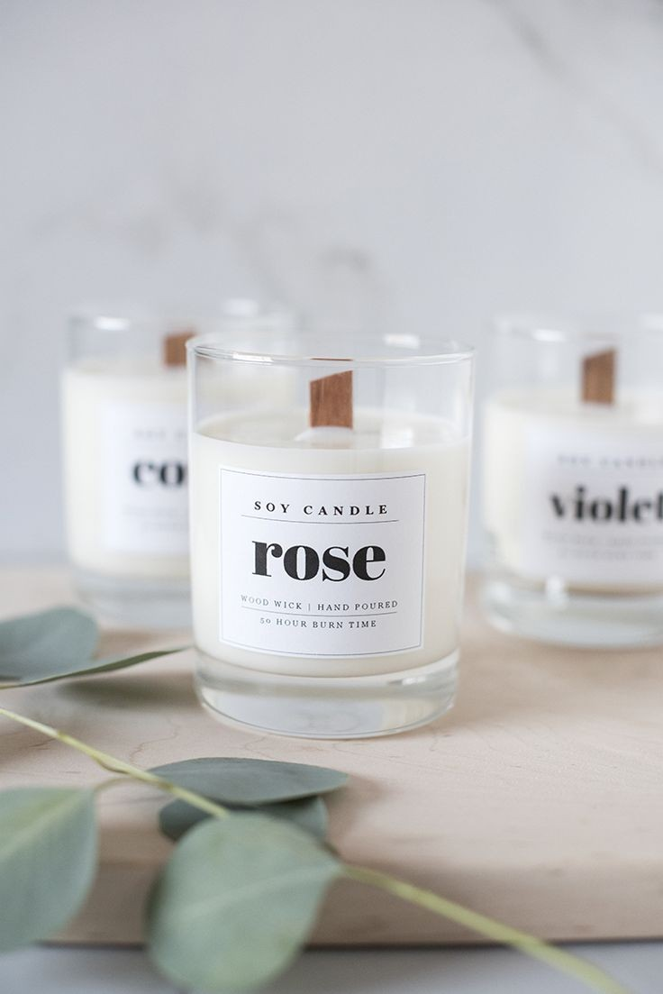Candle Label Ideas