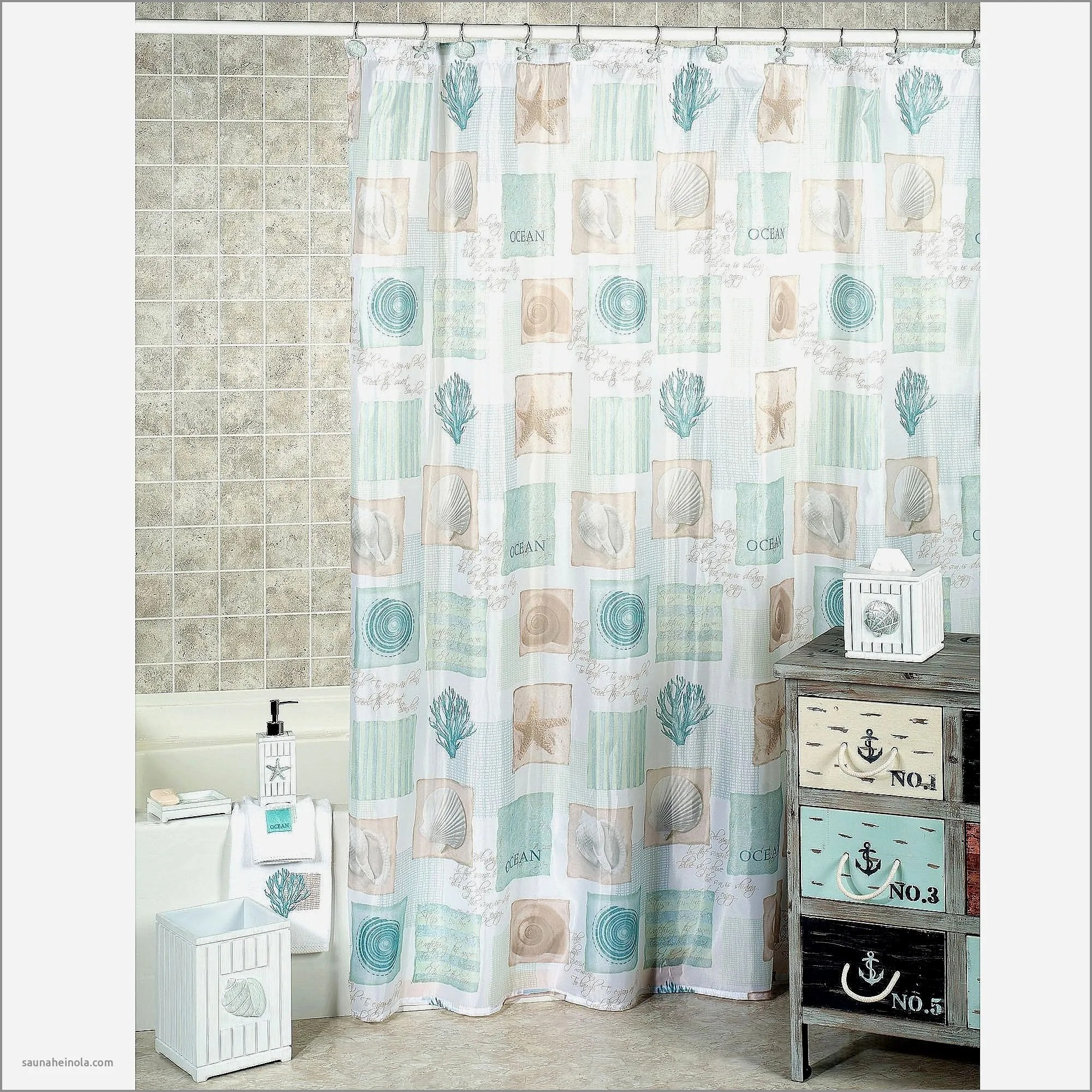 Coastal Collection Shower Curtains