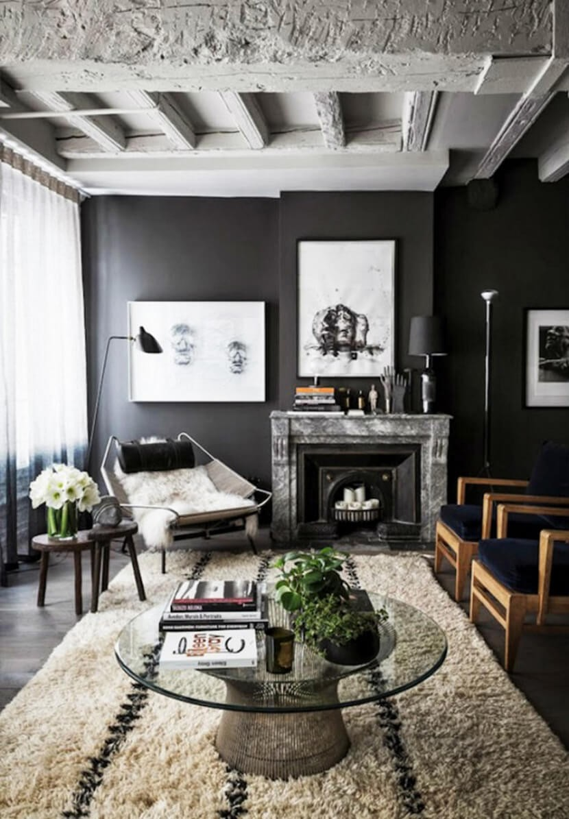 Decorating With Black Furniture In The Living Room