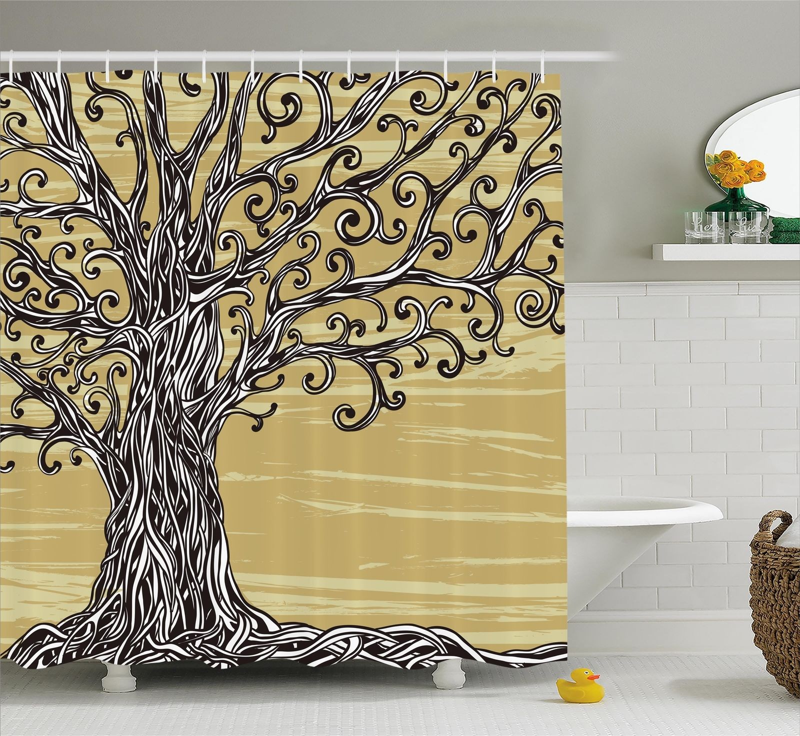 Extra Long And Wide Shower Curtain