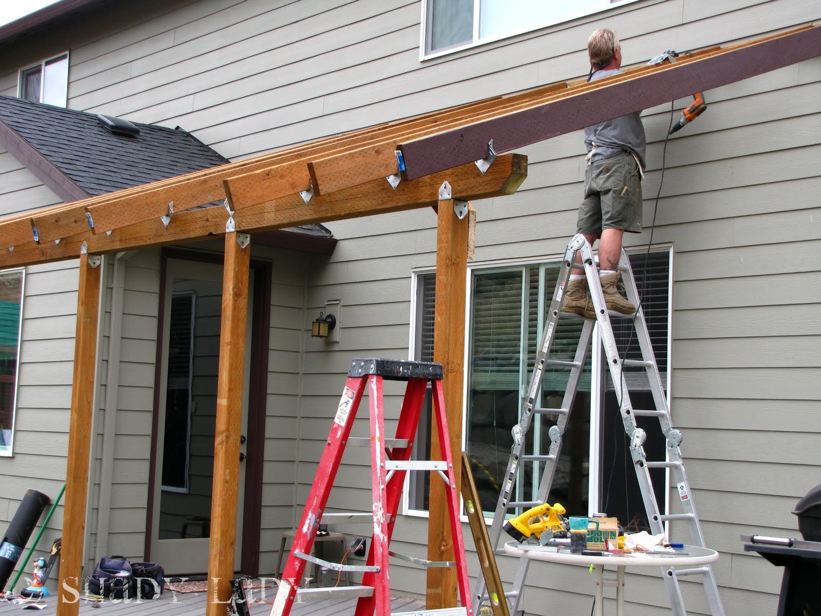 How To Build A Deck Roof Step By Step