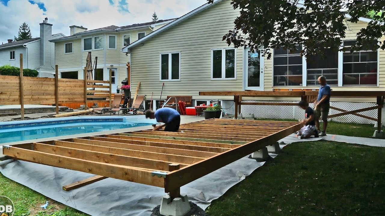 How To Build A Raised Deck Over Concrete