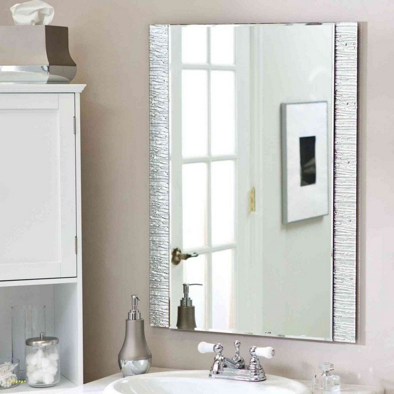 How To Hang A Framed Bathroom Mirror