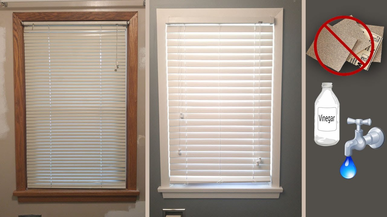 How To Paint Wood Trim White Without Sanding
