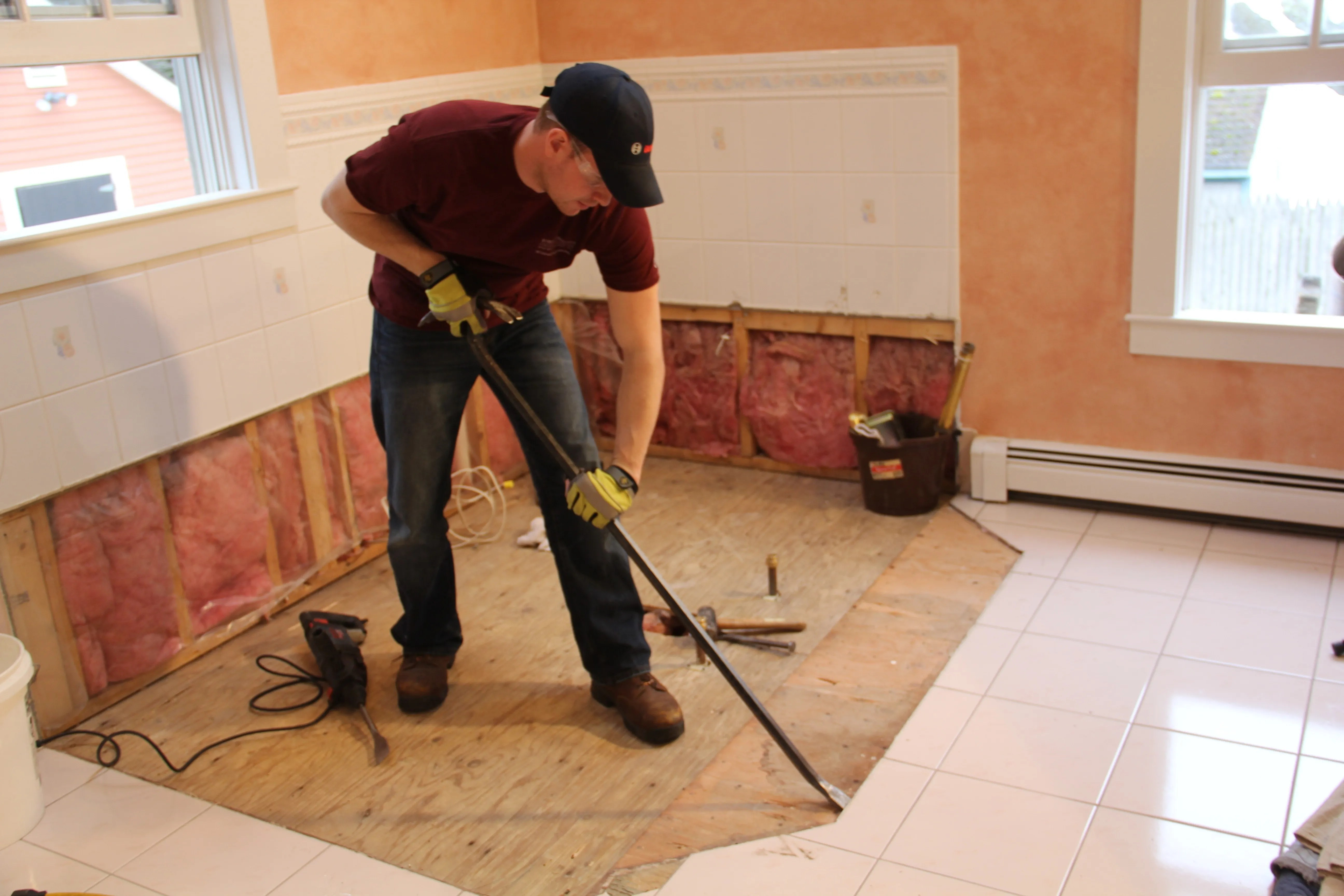 How To Remove Ceramic Floor Tile From Plywood