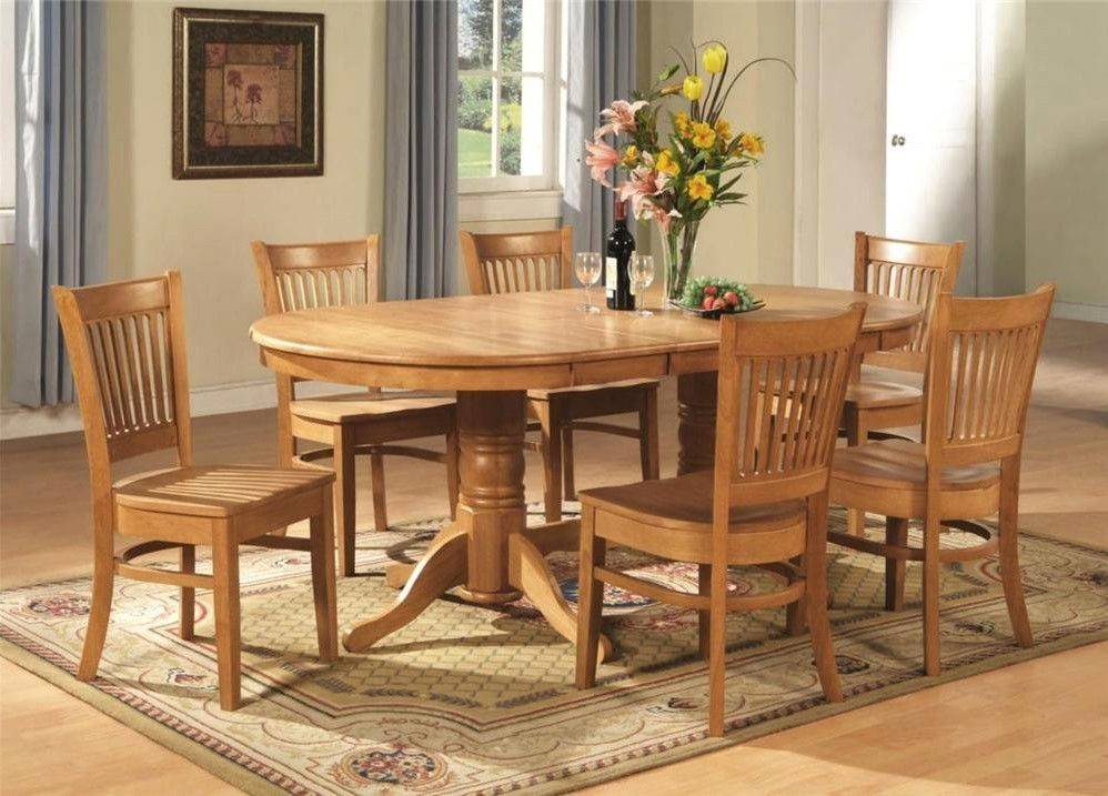 Oak Dining Room Set With 6 Chairs
