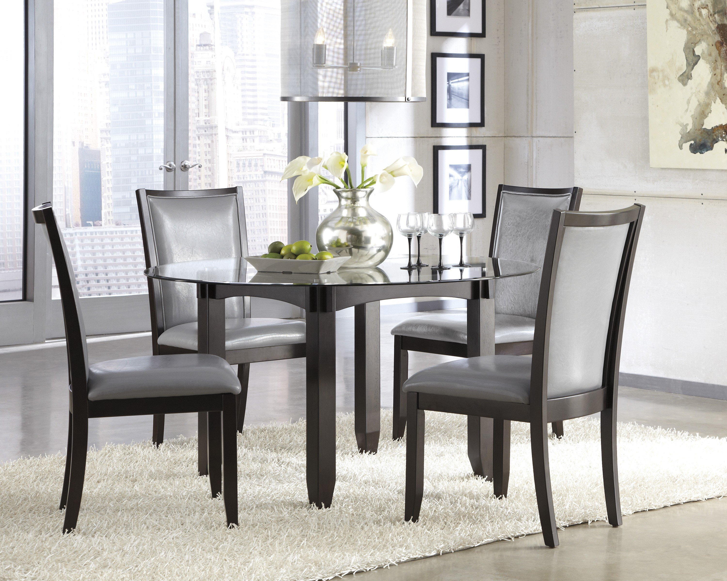 Red And Black Dining Room Set