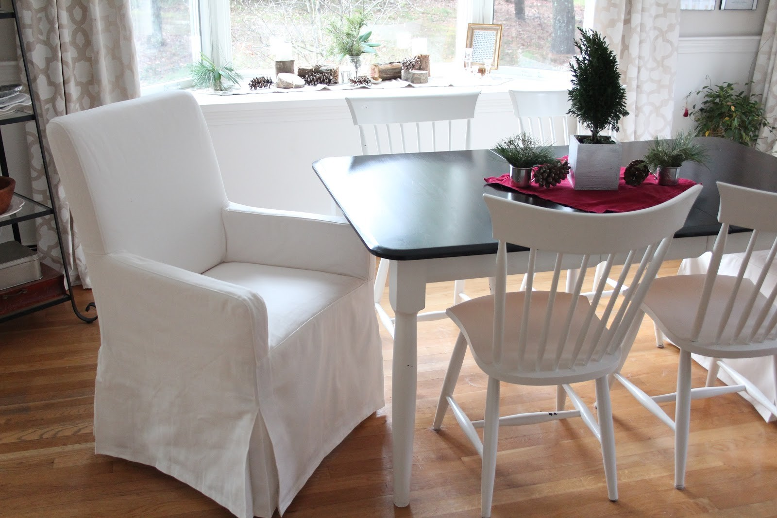 Slipcovers For Dining Room Chairs Without Arms