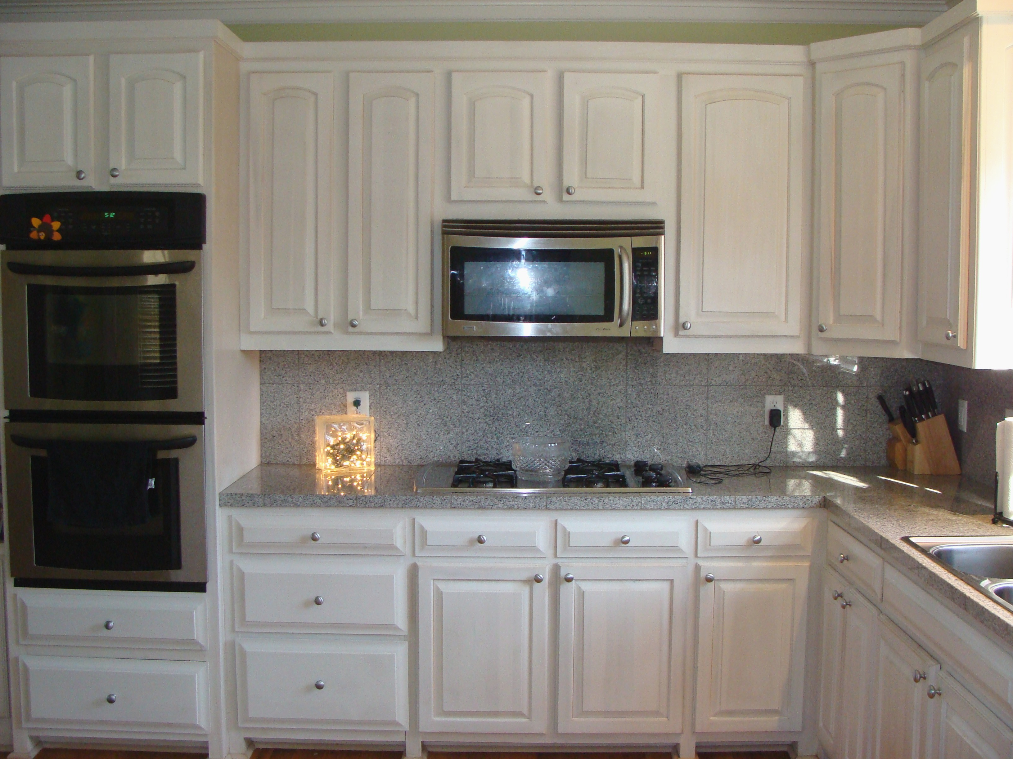 Whitewash Kitchen Cabinets Before After