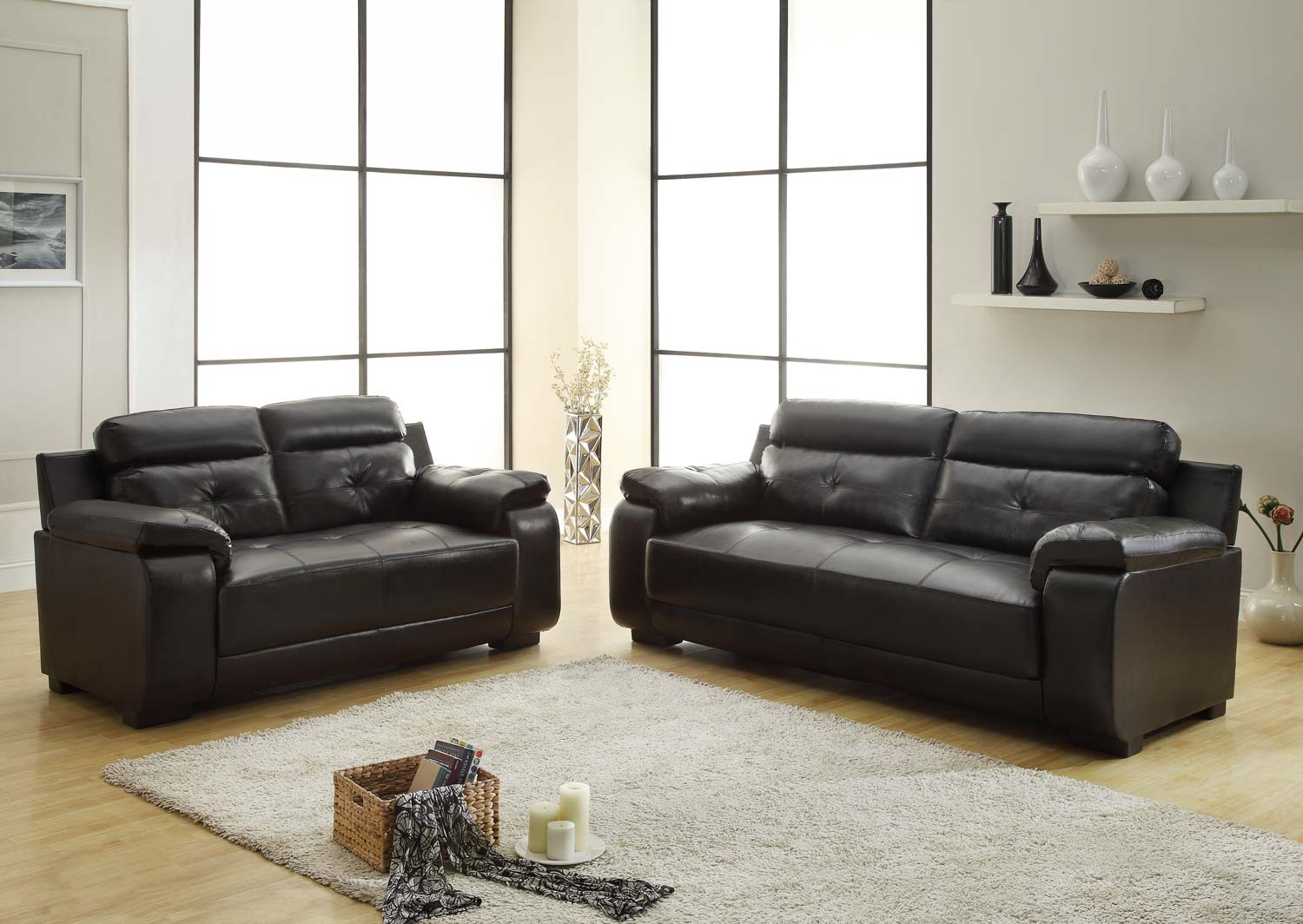 Zane Leather Sofa