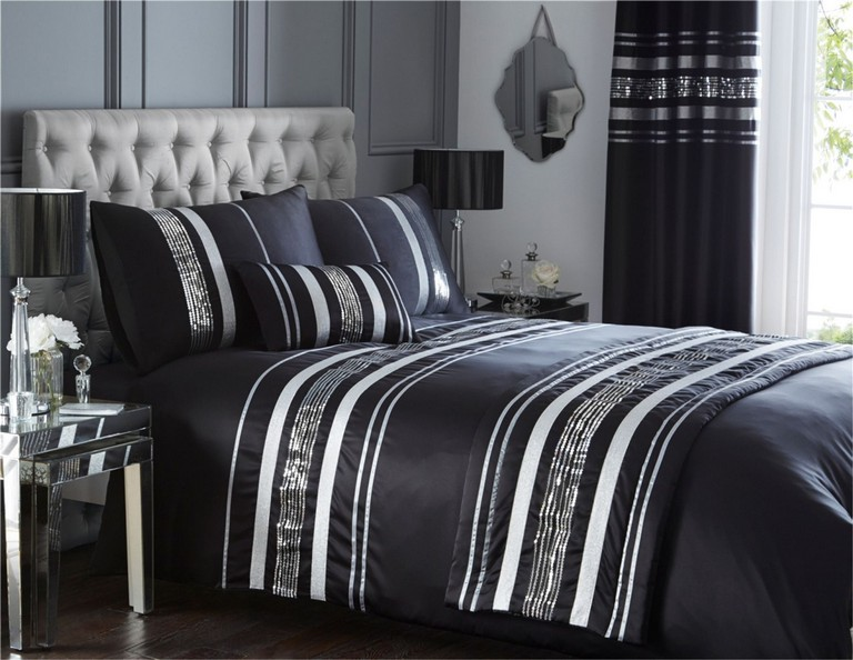 Black And Silver Bedding Sets