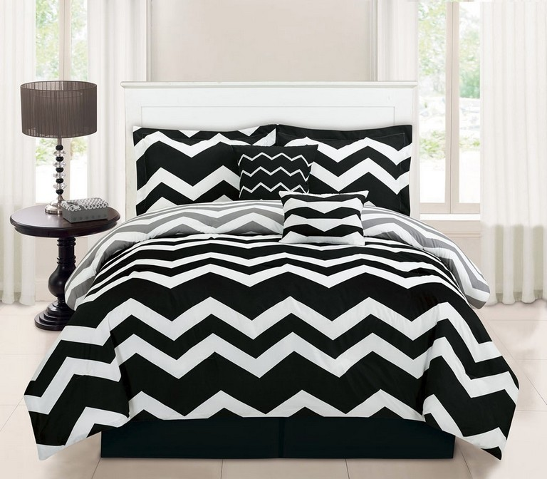 Black And White Twin Bedding Sets