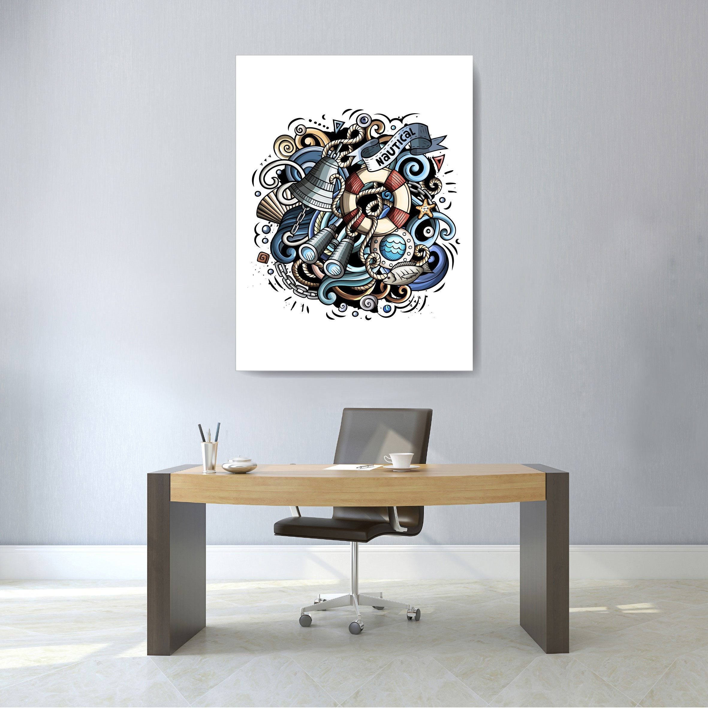 Blue And Grey Wall Art