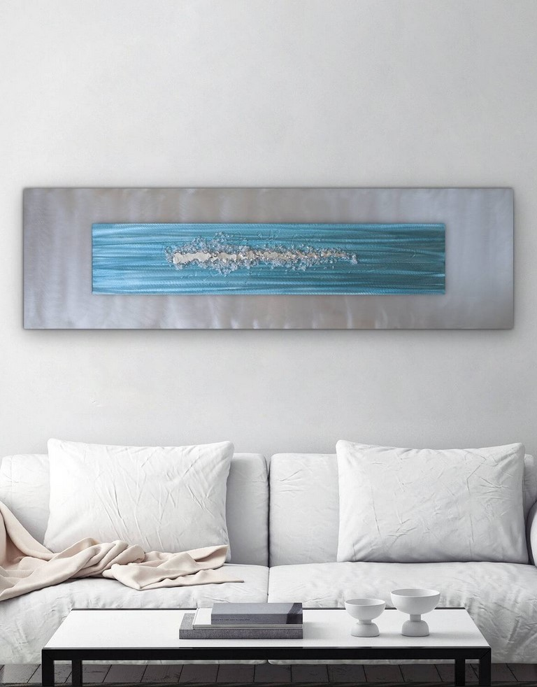 Blue And Silver Wall Art