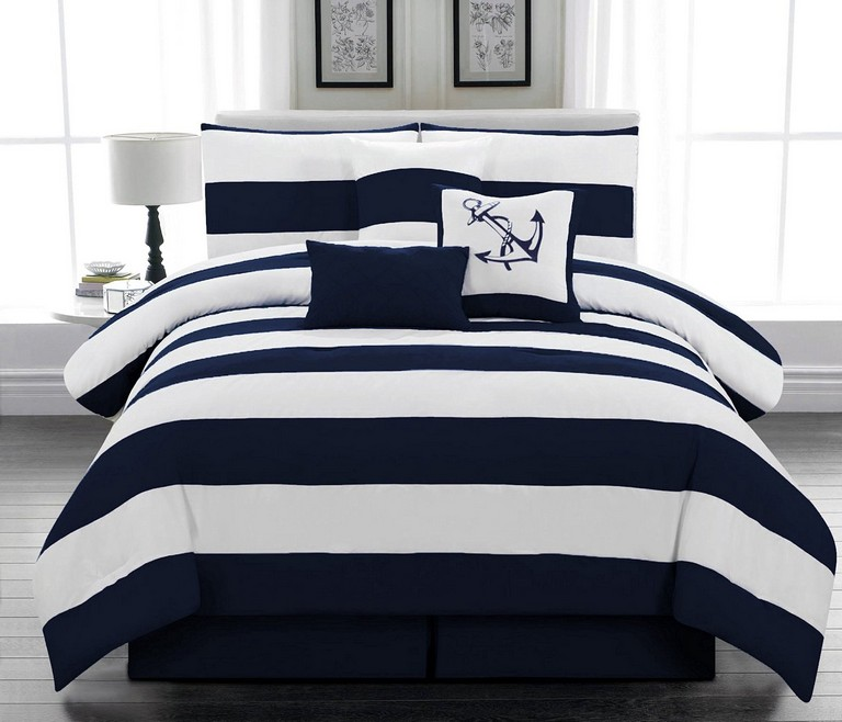 Navy And White Bedding Sets