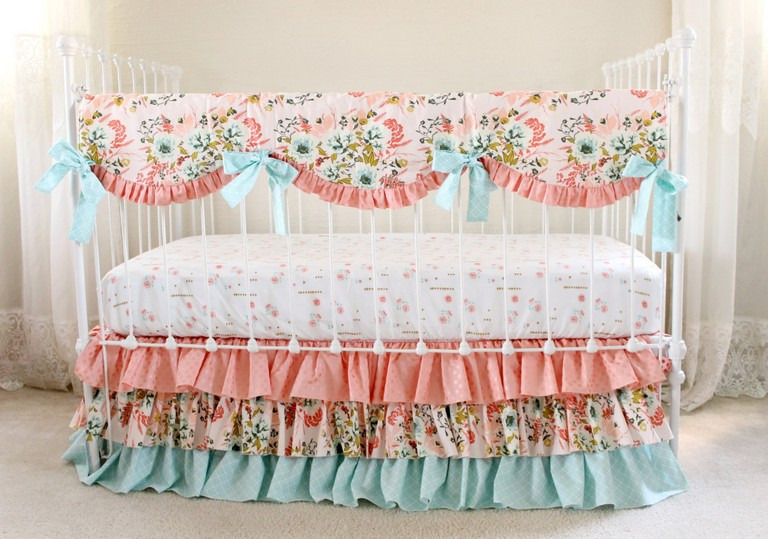 Pink And Gold Crib Bedding Sets