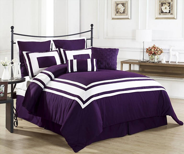 Purple And White Bedding Sets