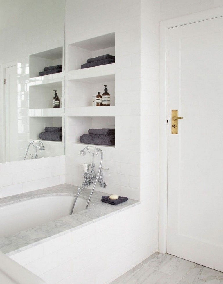 Recessed Bathroom Shelves