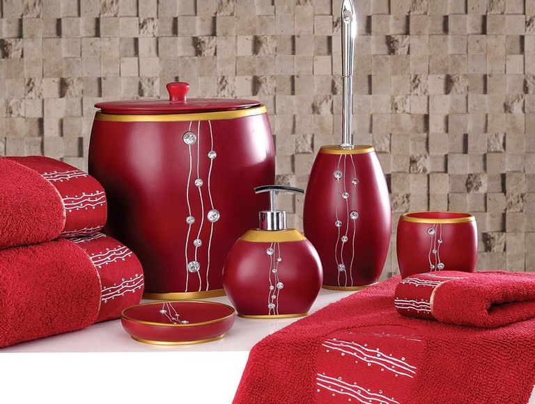 Red Bathroom Accessory Sets