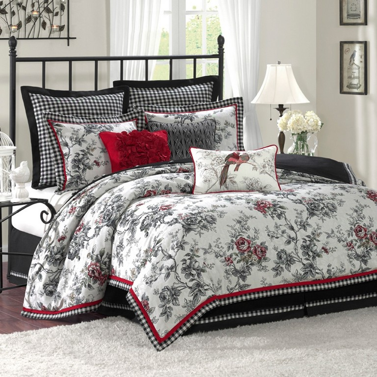 red bedding sets king size  top home information