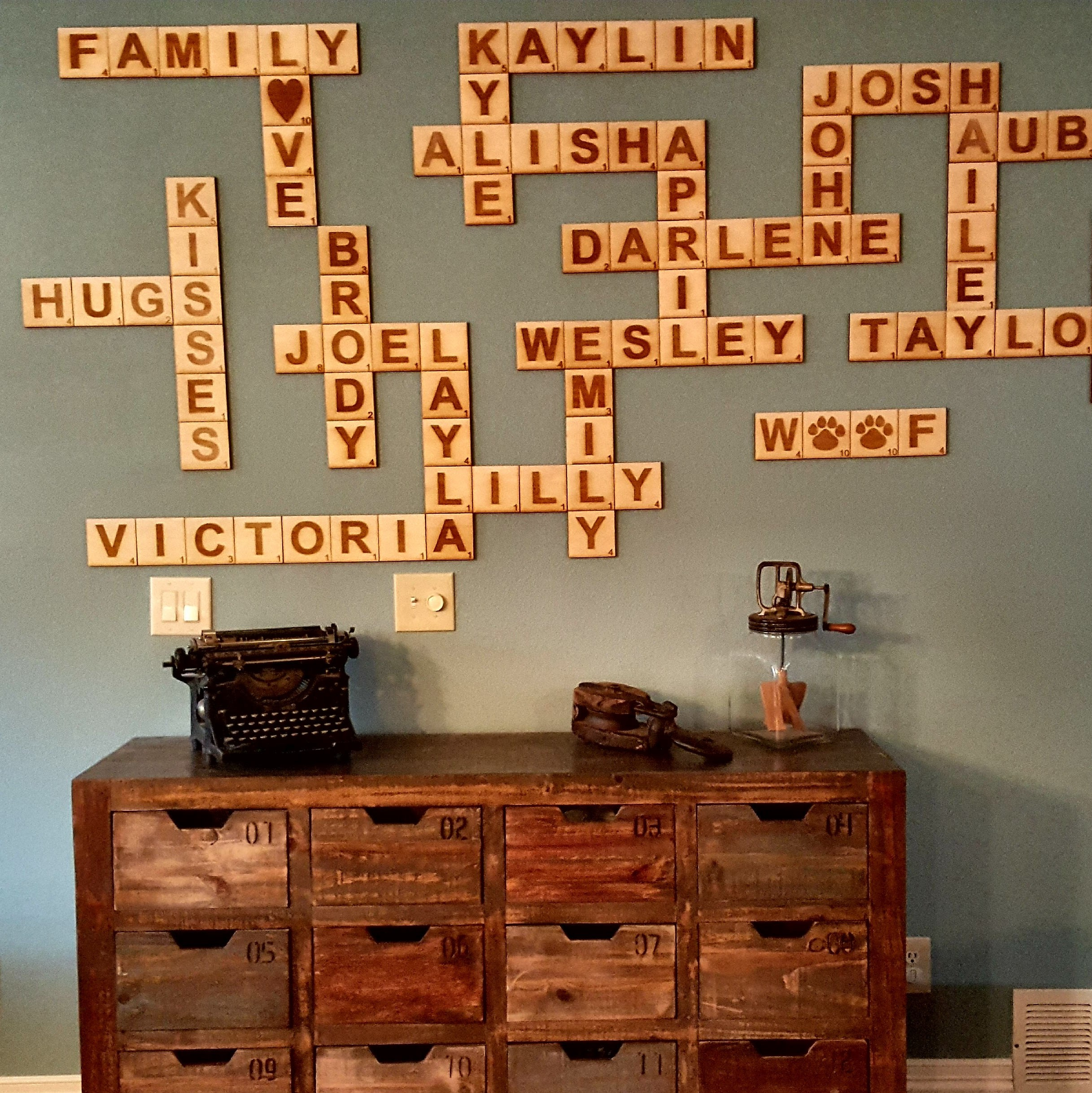 Scrabble Wall Art Generator
