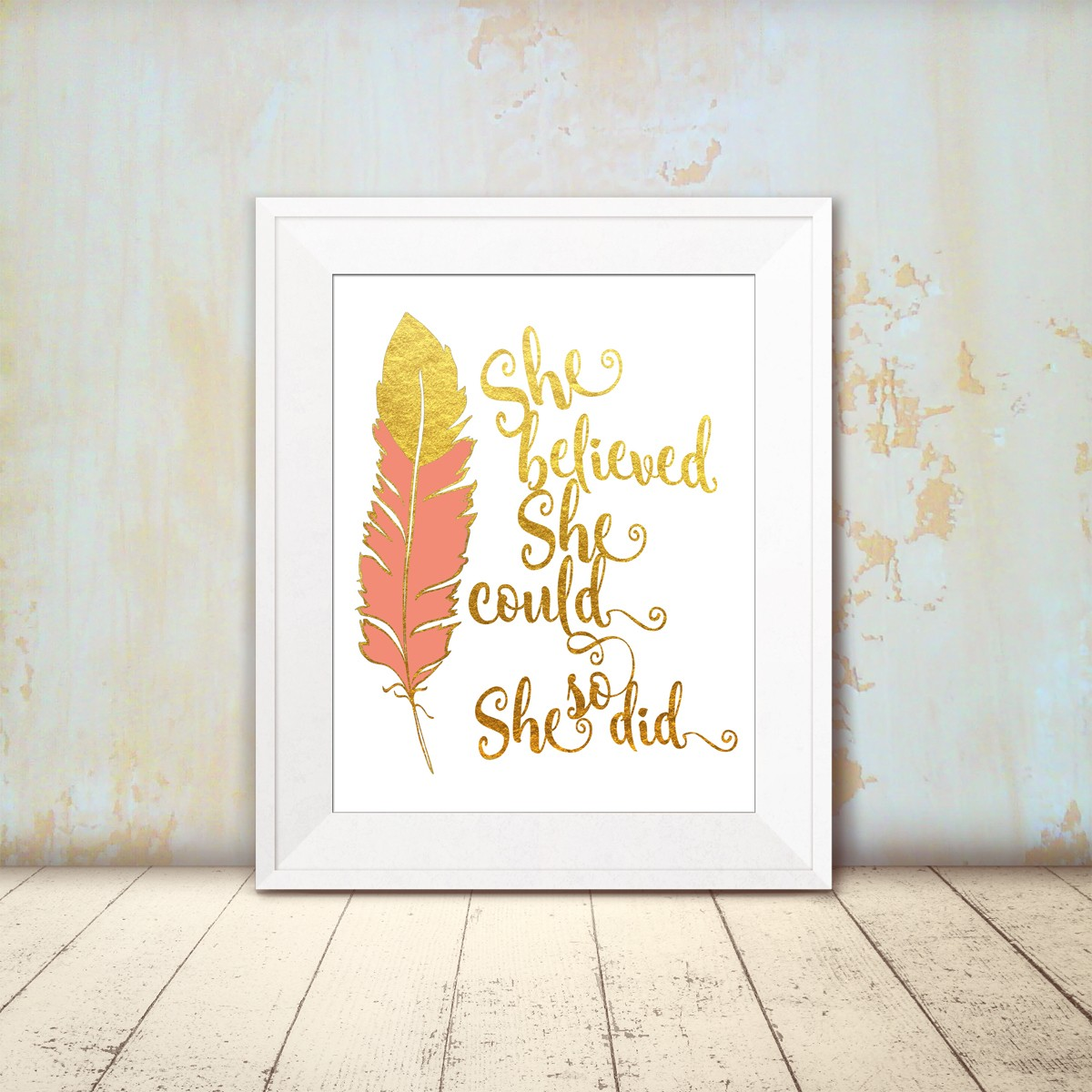 She Believed She Could So She Did Wall Art