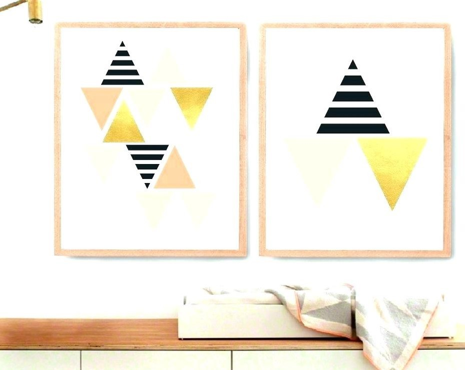 White And Gold Wall Art