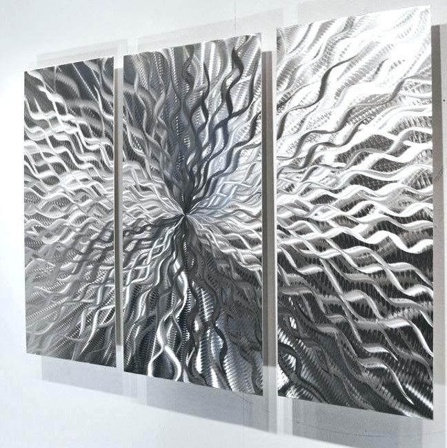 White And Silver Wall Art