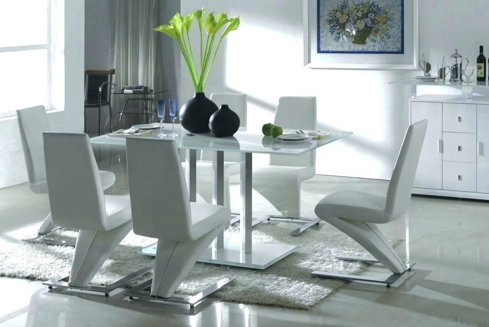 White Leather Dining Room Sets