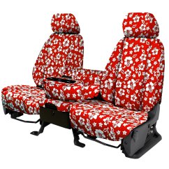 Hawaiian Chair Covers Desk Legs Seat Cars Trucks Suvs Made In America Free Cover Red 32na