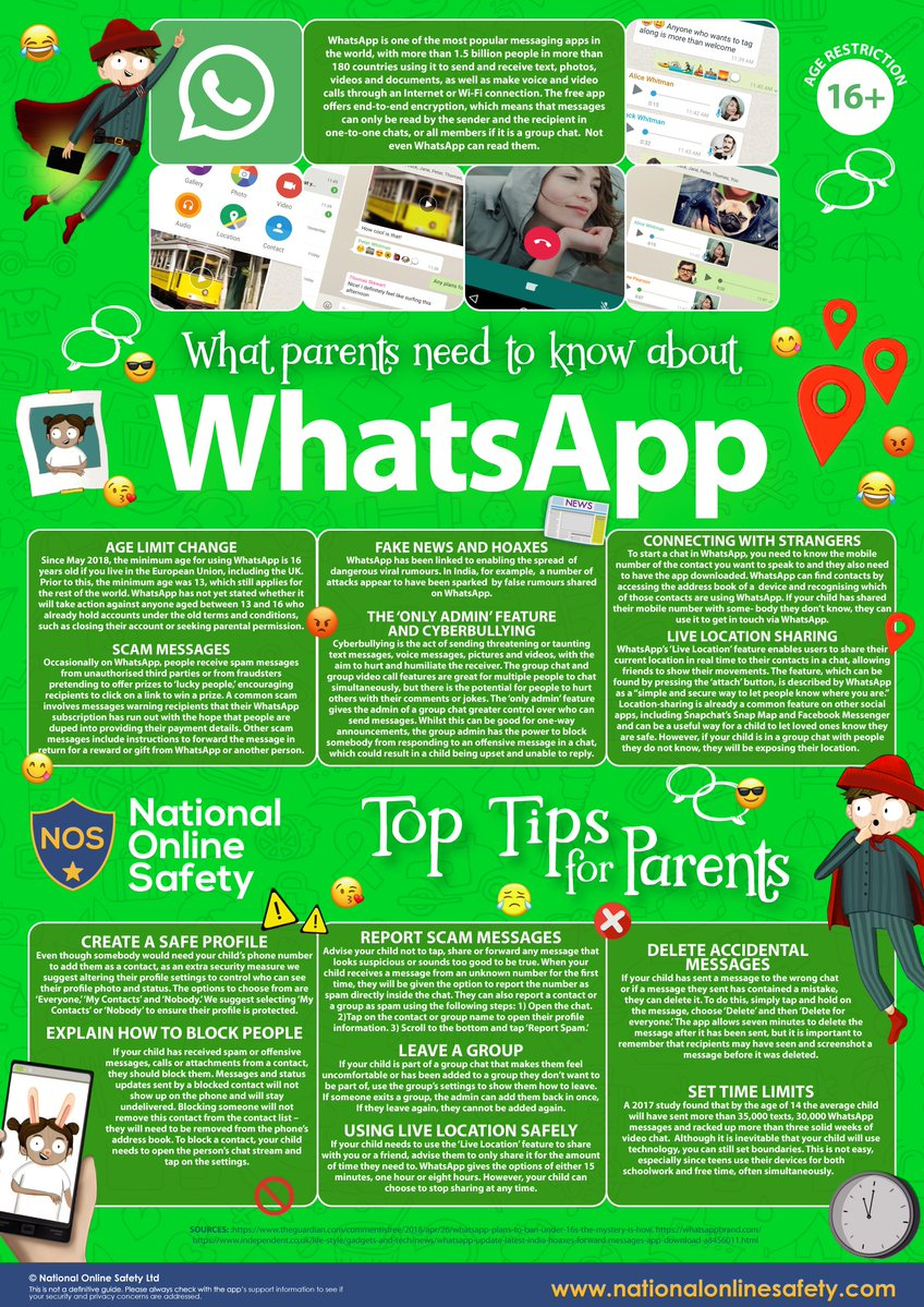 WhatsApp advice - Caludon Castle School