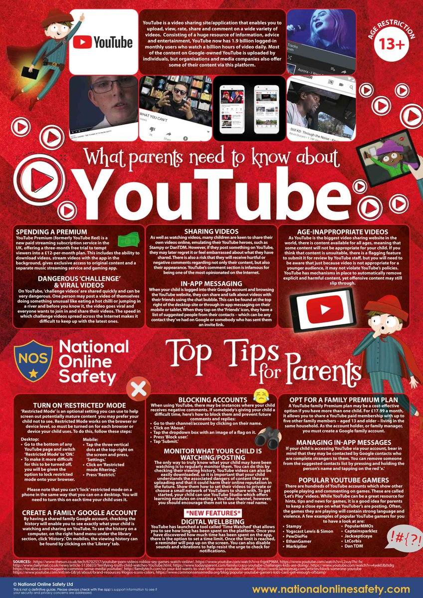 YouTube guide for parents and carers - Caludon Castle School