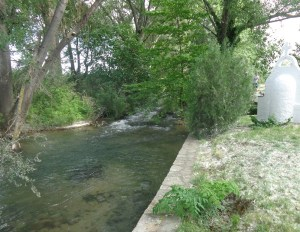 One of our very first stops was to the river where Paul met Lydia in Acts 16:13, 14.