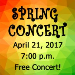 """Calvary University Presents the Annual Spring Concert – """"It's a Grand Night for Music!"""""""