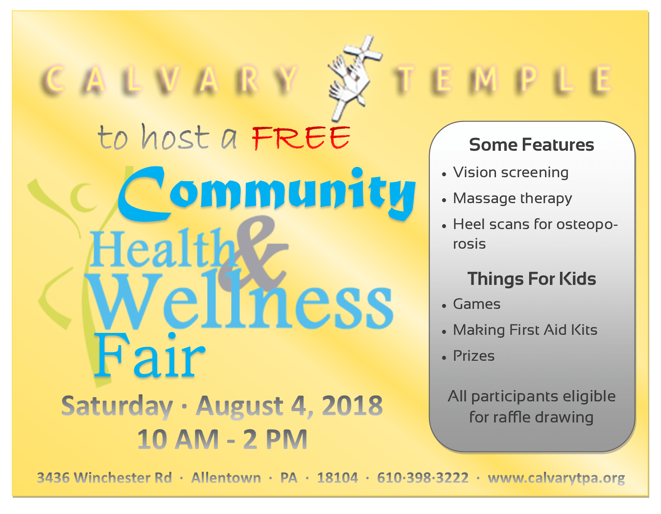 Free Community Health & Wellness Fair 2018