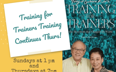 Training for Trainers (T4T) Continues