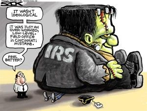 IRS Frankenstein,Cagle, May 23, 2013