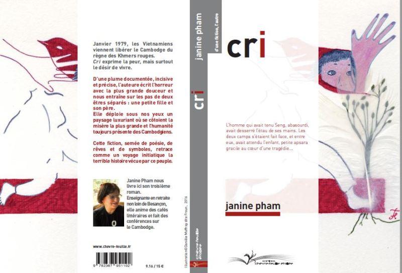 département langues du CALYP-Capture couverture- cri- ouvrage de l'écrivain Janine Pham