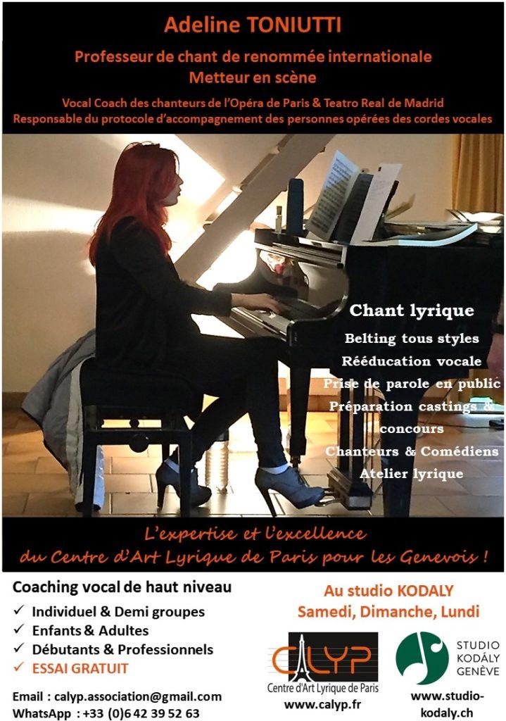 Flyer Genève CALYP Centre d'Art Lyrique de Paris 04-2018