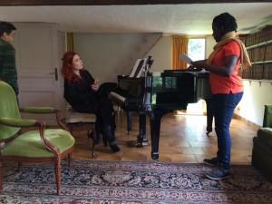 Adeline coach une chanteuse de gospel et de jazz -My funny valentine