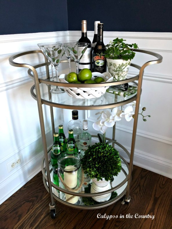 decorating with green for St. Patrick's Day