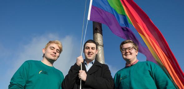 Image result for uk university rainbow flag