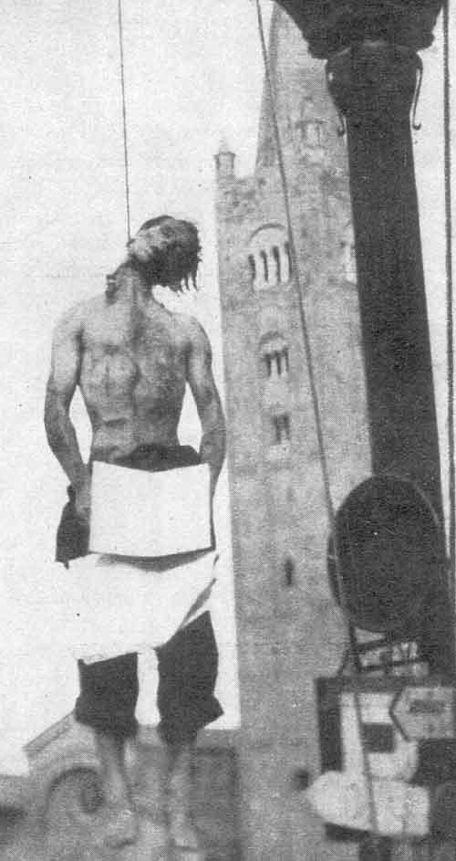 Silvio Corbari impiccato