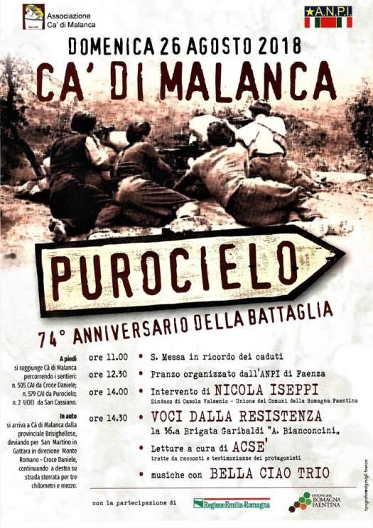 Battaglia di Purocielo: 74° anniversario