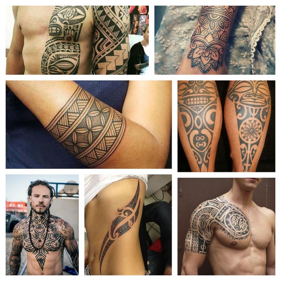 Tatuajes Tribales Maoríes Celtas Dayak Y Polinesia Camaleon