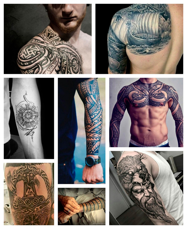 Significado De Los Tatuajes De Inspiración Vikinga Camaleon Tattoo